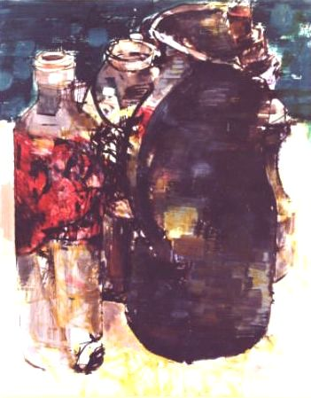 Alain Mongrenier : Nature morte Technique mixte 65x50
